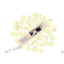 Tuba - granat strzelający białymi sercami i kremowymi płatkami róż / 30cm Zaproszenia, zawiadomienia