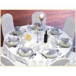 Obrus biały na okrągły stół / średnica 230cm Zaproszenia, zawiadomienia