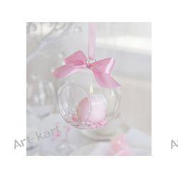 Kula szklana wisząca na dekoracje, świeczki  10cm  KSS10 / 4szt Zaproszenia, zawiadomienia