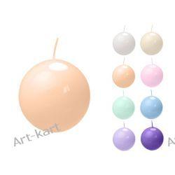 Świeca kula lakierowana fi80 x 6szt / r. kolory