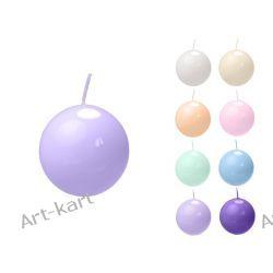 Świeca kula lakierowana fi45 x 20szt / r. kolory