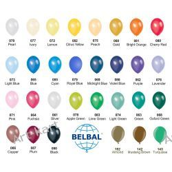 """Balony 10"""" BELBAL metalik / 100szt jednokolorowych Zaproszenia, zawiadomienia"""
