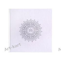 Księga Gości komunijnych biała z emblematem / 22 karty KGK6 Zaproszenia, zawiadomienia