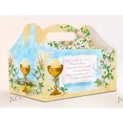 Pudełka na ciasto komunijne z podziękowaniem PUDCS7 / 1szt Zaproszenia, zawiadomienia