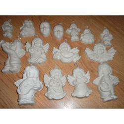 gipsowe maski,aniołki 0,90 gr. za sztuke+PREZENT