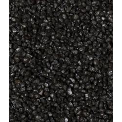 Piasek czarny 0.8-1,2 mm + gratis 2 skałki Akcesoria