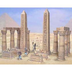 Akcesoria do budowy egipskiej świątyni Akcesoria