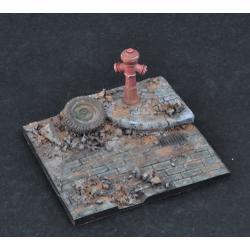diorama fragment drogi z hydrantem-skala 1:35