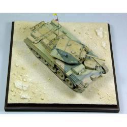 Podstawka,makieta imitująca pustynie El-Alamein