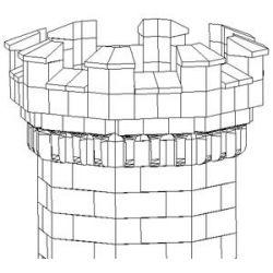 Cegiełki do budowy wieży ośmiokątnej 120+12