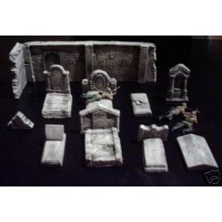 Wyposażenie cmentarne,nagrobki,mur