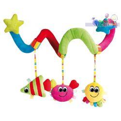 Spirala pluszowa do łóżeczka i wózka dziecięcego Kolorowy Ocean Canpol...