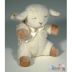 Śpiąca owieczka w podróży - zabawka z pozytywką do łóżeczka, fotelika i wózka...