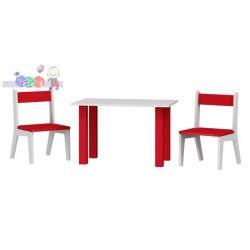 Stolik z dwoma krzesełkami komplet do pokoju dziecięcego 50 x80x54...