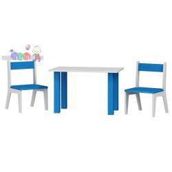 Krzesełka 2 szt + stolik komplet dla dzieci 50x80x54...