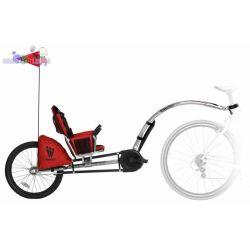 Bezpieczna przyczepka rowerowa z dodatkowym siedziskiem i możliwością pedałowania przez dziecko Weehoo...