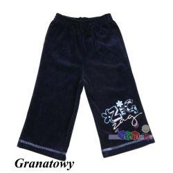 Welurowe spodnie dla dziewczynek Dzwony...
