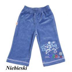 Spodnie z weluru dla dziewczynki rozmiar 98...