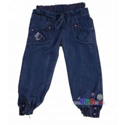 Modne spodnie jeansowe dla dziewczynki rozm. 110...