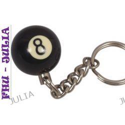 Breloczek do kluczy bila nr 8 -NA SZCZĘŚCIE