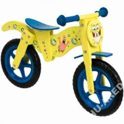 Drewniany rowerek biegowy Pan Gąbka- Disney-3 lata