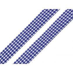 WSTĄŻKA - GRANAT W KRATKĘ - SZER. 18 mm - DŁ. 1 m