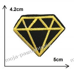 APLIKACJA NAPRASOWANKA TERMO -DIAMENT złoto- 42x50mm