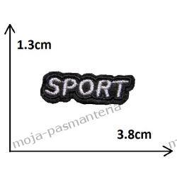 Naprasowanka - mały napis SPORT (szary) - 13x38mm