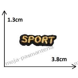 Naprasowanka - mały napis SPORT (złoty) - 13x38mm