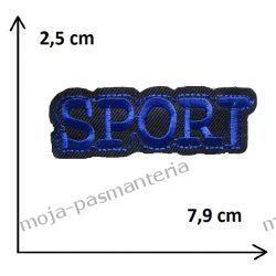 Naprasowanka -NAPIS SPORT (granat) - 25x79mm