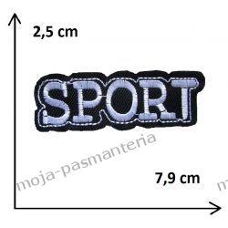 Naprasowanka -NAPIS SPORT (biel) - 25x79mm