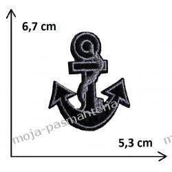 Naprasowanka -kotwica CZARNA- 67x53mm