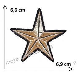 Naprasowanka - GWIAZDA złoto - 66x69mm