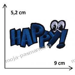 Naprasowanka -NAPIS HAPPY - 52x90mm
