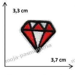 APLIKACJA NAPRASOWANKA TERMO -1. DIAMENT - 3,3 cm x 3,7 cm