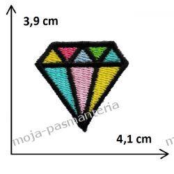 APLIKACJA NAPRASOWANKA TERMO -2. DIAMENT - 3,9 cm x 4,1 cm