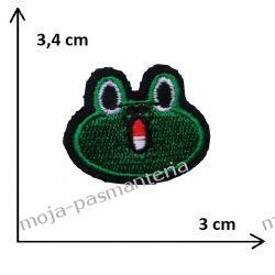APLIKACJA, NAPRASOWANKA TERMO - ŻABA - PŁAZ - 3,4 cm x 3 cm
