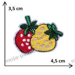 APLIKACJA NAPRASOWANKA -TRUSKAWKA- TRUSKAWKI - 3,5cm x 4,5cm