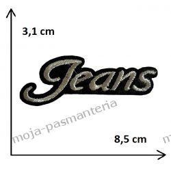 APLIKACJA NAPRASOWANKA - NAPIS JEANS- 3,1x8,5cm