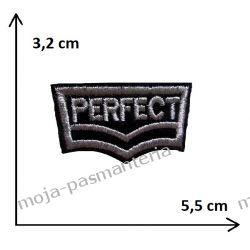 APLIKACJA NAPRASOWANKA - NAPIS PERFECT- 3,2x5,5cm