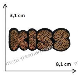 APLIKACJA NAPRASOWANKA TERMO - KISS - 3,1x8,1 cm