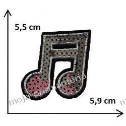 APLIKACJA, NAPRASOWANKA TERMO - NUTA - 5,5 cm x 5,9 cm