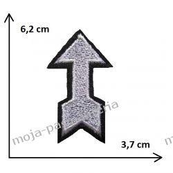 Naprasowanka -SREBRO STRZAŁA- 6,2x3,7cm