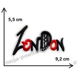 APLIKACJA NAPRASOWANKA TERMO - NAPIS LONDON- 5,5x9,2cm