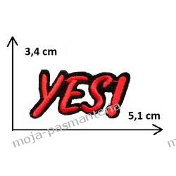 Naprasowanka - NAPIS YES - 3,4cmx5,1cm