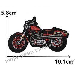 Naprasowanka - MOTOCYKL CZERWONY 5,8x10,1cm