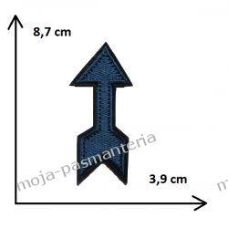 Naprasowanka -GRANAT STRZAŁA- 8,7x3,9cm