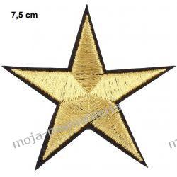 Naprasowanka APLIKACJA - ZŁOTA GWIAZDA - 7,5 cm