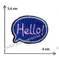 Naprasowanka - napis HELLO! CHMURKA 3,4x4cm