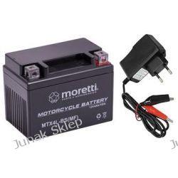 Akumulator żelowy AGM Moretti 12V/4Ah MTX4L-BS+ładowarka cyfrowa.